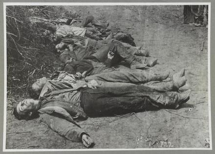 The dead fighters of Ewell's Corp, Spotsylvania, May 1864.